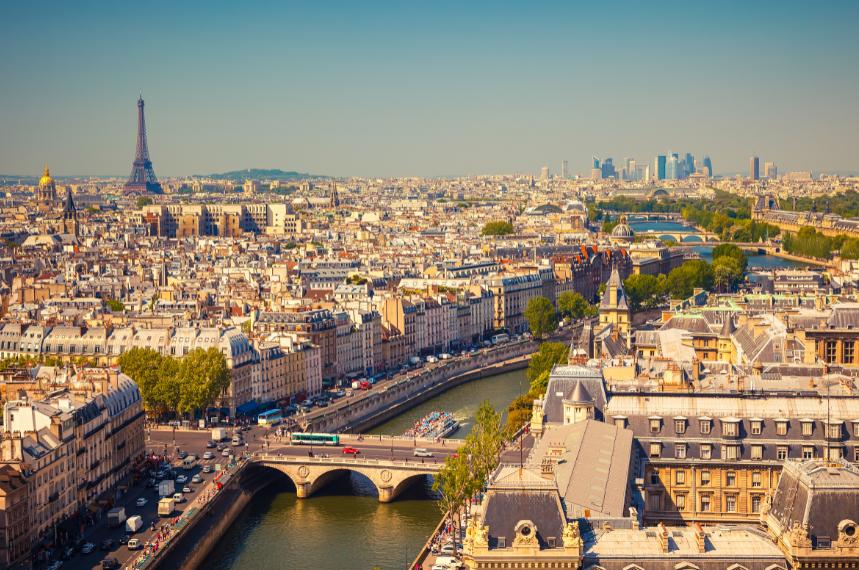 Une vue de Paris - espace vert