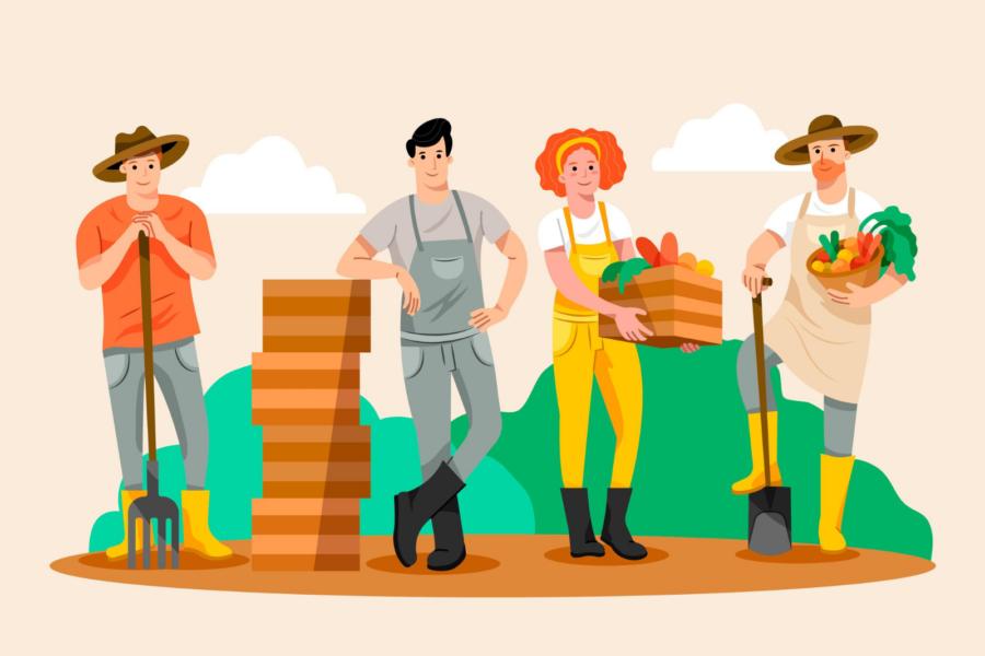 agriculteurs locaux