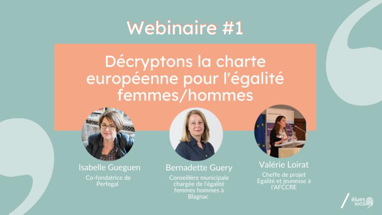 Décryptons la charte européenne pour l'égalité femmes hommes